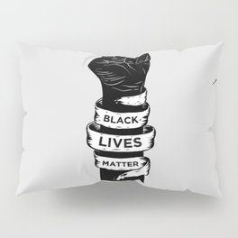 Black Lives Matter Power Fist Frame Pillow Sham