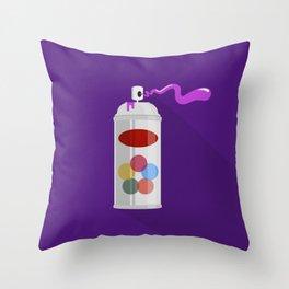 Spraycan Throw Pillow