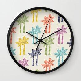 Palm Tree Pattern 22 Wall Clock
