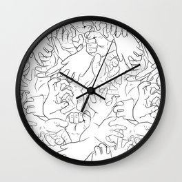 Hands On White Wall Clock