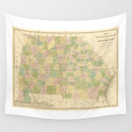 Map of Georgia and Alabama (1839) Wall Tapestry