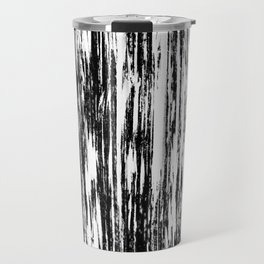 Ikat Streaks in Ink Black Travel Mug