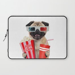 Pug watching a movie Laptop Sleeve