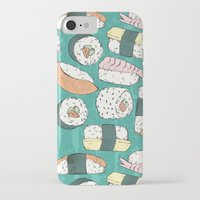 sushi iPhone & iPod Cases featuring Sushi by Abi Woodhouse