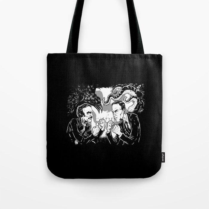 Poe vs. Lovecraft Tote Bag