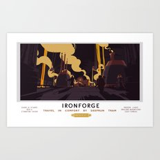 Ironforge Classic Rail Poster Art Print
