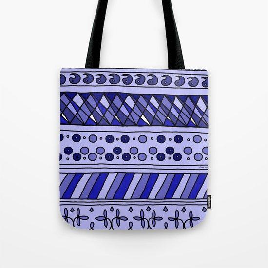 Yzor pattern 002 blue Tote Bag