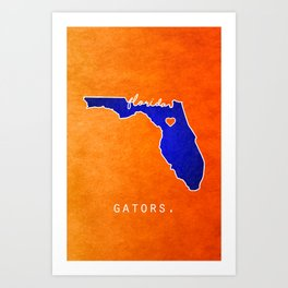 Gators Art Print