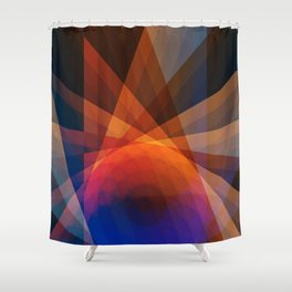 A Receptive Mind is Connected Shower Curtain