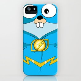 Golang - Iris Gopher iPhone Case