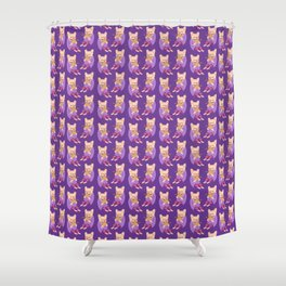 Frenchie Loves Taco Shower Curtain