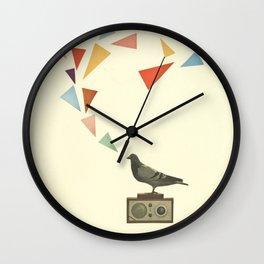 Pigeon Radio Wall Clock