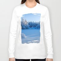 swedish Long Sleeve T-shirts featuring Swedish Winter by Mark W