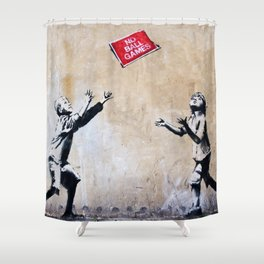 Banksy Ball Games Shower Curtain