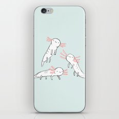 Three Little Axolotls iPhone & iPod Skin