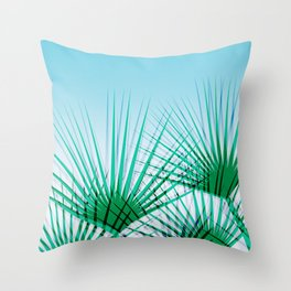 Airhead - memphis throwback retro vintage ombre blue palm springs socal california dreamer pop art Throw Pillow