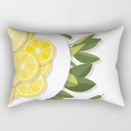 Citrus Plate Rectangular Pillow