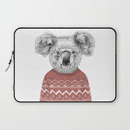 Winter koala (red) Laptop Sleeve