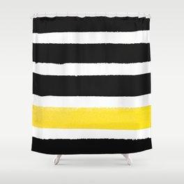 Watercolour Yellow Pop Shower Curtain