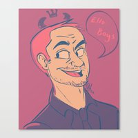 crowley Canvas Prints featuring Crowley by The Art of Nicole