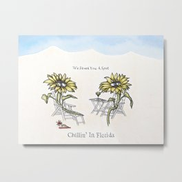 Chillin' in Florida Metal Print
