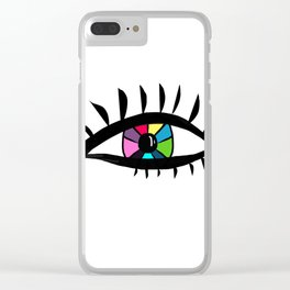 Eye design Clear iPhone Case