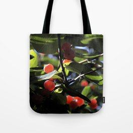 Jane's Garden - Sunkissed Red Berries Tote Bag
