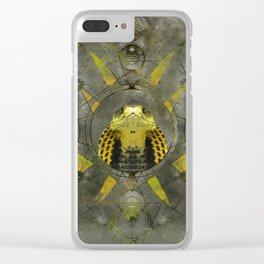 Cobra Sacred Geometry Digital Art Clear iPhone Case