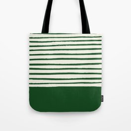 Holiday x Green Stripes Tote Bag