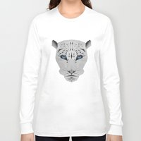 snow leopard Long Sleeve T-shirts featuring Snow leopard by Czety