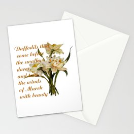 Daffodils That Come Before The Swallow Dares Shakespeare Quote Stationery Cards