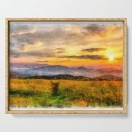 Sunset on the Appalachian Trail, North Carolina Serving Tray