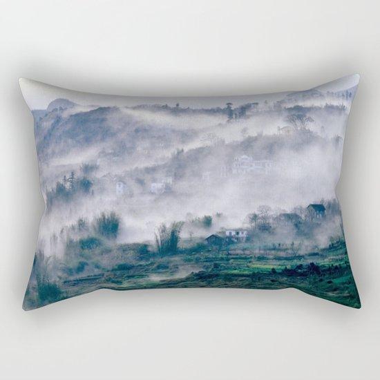 Foggy Mountain of Sa Pa in VIETNAM Rectangular Pillow