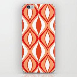 Mid-Century Modern Diamonds, Orange and White iPhone Skin