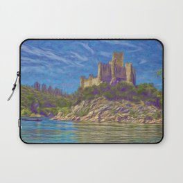 Almourol, Knights Templar fort Laptop Sleeve