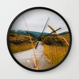 The Roadside Path (Color) Wall Clock