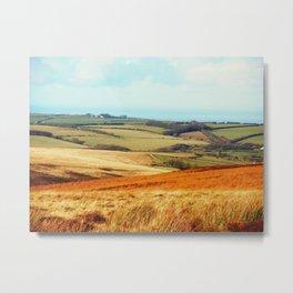 Landscape of Exmoor Metal Print
