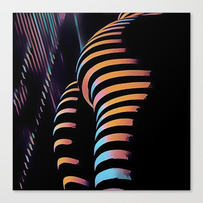 7485s-MAK Zebra Striped Curves Butt Thighs Bum Ass Rear Bottom Canvas Print  by artonline | Society6