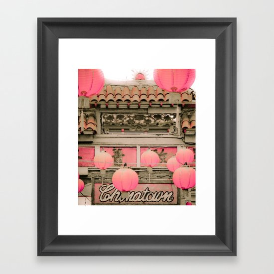 Los Angeles - Chinatown Sign Framed Art Print
