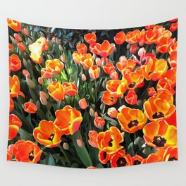 Red Tulips of Istanbul Wall Tapestry