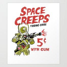 Space Creeps Art Print