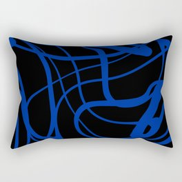 Blue lines on black background Rectangular Pillow