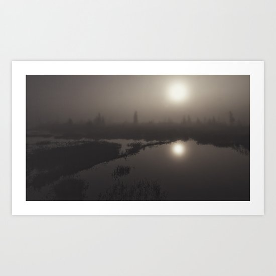 morning mystery Art Print