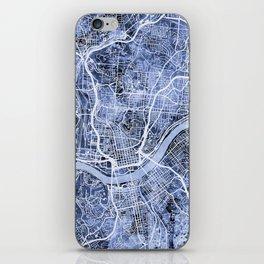 Cincinnati Ohio City Map iPhone Skin