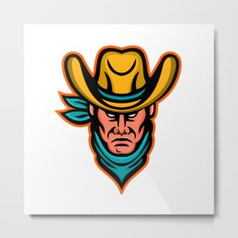 American Cowboy Sports Mascot Metal Print