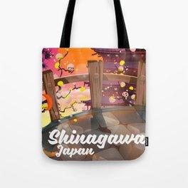 Shinagawa Japan travel poster Tote Bag