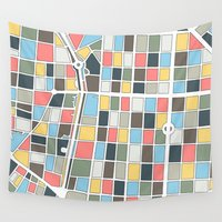 madrid Wall Tapestries featuring Salamanca Madrid Map by Studio Tesouro