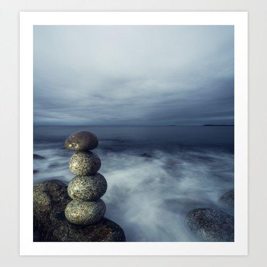 Balanced in the Sea Art Print