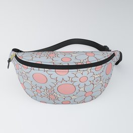 Groovy Daisy Floral in Baby Blue + Pink Fanny Pack