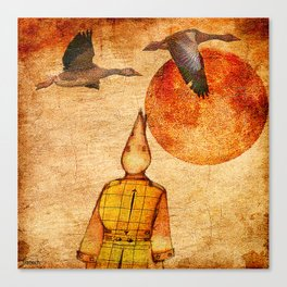 wild goose and Victor Canvas Print
